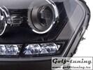 Mercedes W164 08-11 Фары Devil eyes, Dayline черные