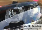 VW Polo 6R 09-14/Polo 6C 15-/Polo Sedan 09-14-15- Фары в стиле гольф 7 гти черные