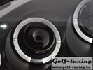 Opel Corsa C Фары с линзами и ангельскими глазками черные
