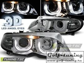 BMW E46 01-05 S/T Фары Angel Eyes 3D хром