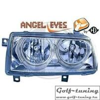 VW Vento Фары с ангельскими глазками хром