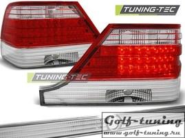 Mercedes W140 95-98 Фонари светодиодные, красно-белые