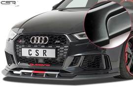 Audi RS3 8V 15- Накладка на передний бампер  матовая