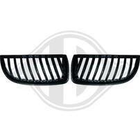 BMW E90 05-08 Решетки радиатора (ноздри) carbon look