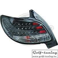 Peugeot 206 98-06 Фонари светодиодные, черные