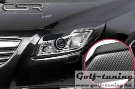 Opel Insignia A 08-13 Реснички на фары carbon look