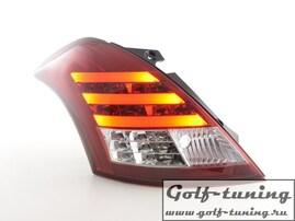 Suzuki Swift 11-13 Фонари светодиодные, красно-белые