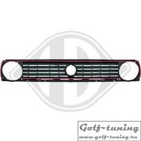 VW Golf 2 Решетка радиатора в стиле GTI с красной полосой