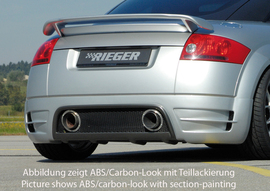 Audi TT 8N 98-03 Купе/Роадстер Накладка на задний бампер carbon look