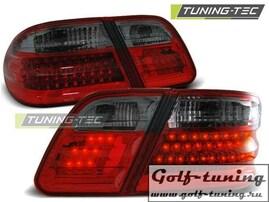 Mercedes W210 95-02 Седан Фонари светодиодные, красно-тонированные