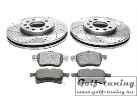 Opel Astra F/G/H/Corsa C/Meriva/Zafira A/B Комплект спортивных тормозных дисков и колодок