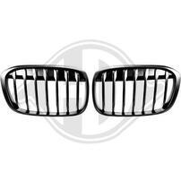BMW X1 F48 16- Решетки радиатора (ноздри) матовые