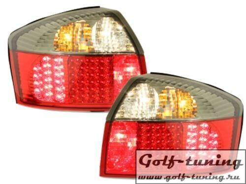 Audi A4 B6 01-04 Фонари светодиодные, красно-тонированные