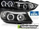 BMW E90/E91 05-08 Фары angel eyes с CCFL глазками черные