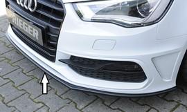 Audi A3/S3 8V 12-16 3/5Дв Сплиттер черный для оригинального S-Line бампера