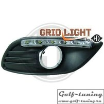 Ford Focus 08-11 Дневные ходовые огни хром