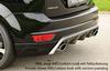 Ford Focus 2 08-11 Накладка на задний бампер/диффузор Carbon Look
