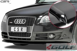 Audi A4 B7 04-08 Накладка на передний бампер carbon look